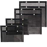 VEIK Reusable Non Stick Mesh Grilling Bag, 4-Piece Set, 15.7 x 10.6Inch, 8.66 x 10.6Inch