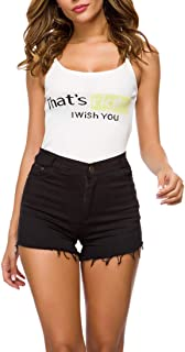 Fulision Womens Summer High Waist Hot Pants Ladies Jeans Shorts Solid Color Casual