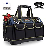 AIRAJ 16 IN Heavy Duty Tool Bag with 1 Mini Tool Box,Waterproof Tool Tote Bag with Adjustable Shoulder Strap,Large Capacity Tool Organizer Bag for Men,Carrier and Organizer,Blue
