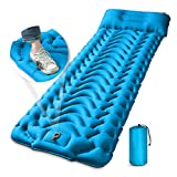 Sleeping Pad, MEETPEAK Foot Press Ultralight Inflatable Camping Sleeping Mat, 4 Inch Thickness Camping Pad Durable Waterproof Compact Air Mattress for Tent, Hiking, Traveling