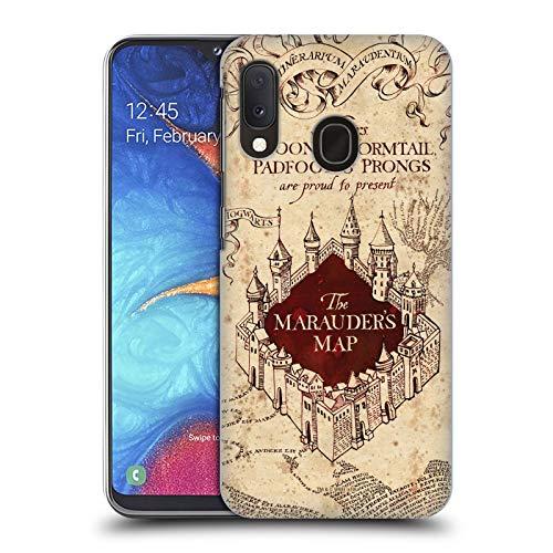 Head Case Designs Carcasa rígida para Samsung Galaxy A20e (2019), diseño de Mapa del merodeador de Harry Potter