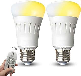 LED電球 口金E26 調光調色可能 リモコン操作 9W 60W形相当 led照明 タイマー機能 昼白色&電球色 無段階調光 ナイトライト 常夜灯 記憶機能 高輝度 省エネ 広配光タイプ 遠隔操作 2個セット 専用リモコン付き