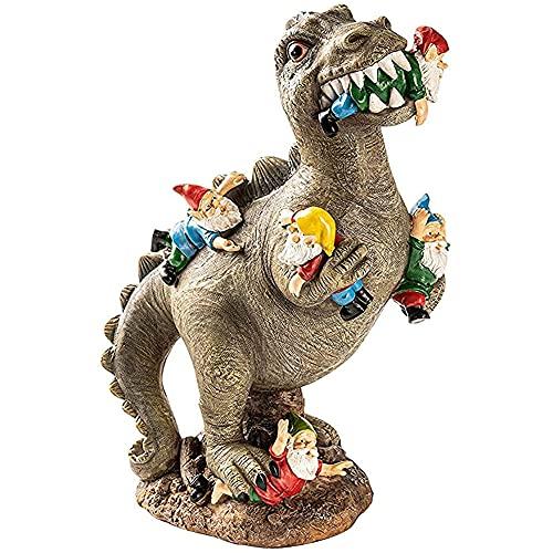 Hilai Gartenzwerg-Massaker, Garten Dinosaurier-Skulptur, Garten Dinosaurier-Statue GNOME Lustige Zwerge Resin Statue Skulptur Outdoor Yard-Kunst-Verzierung Rasen Dekoration L