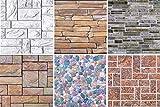 1 Platte | Dekor Paneele | Steinoptik | Wand | PVC | stabil | 97,8x49,6 cm | 52610