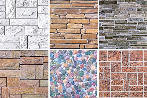 1 Platte | Dekor Paneele | Steinoptik | Wand | PVC | stabil | 97,8x49,6 cm | 52597