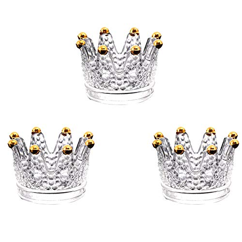 Cenicero de cristal de corona QMMCK, cenicero de vidrio, decoración de corona...