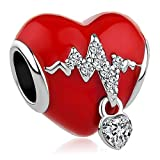 CharmSStory Forever and Always Arrow Through a Heart Charm Beads for European Bracelet (Heartbeat)
