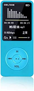 MP3 Player, Lossless MP3, 70 Hour Playback Portable Music Player, Support FM Radio, Recordings, Up to 128 G TF Card (Blue)