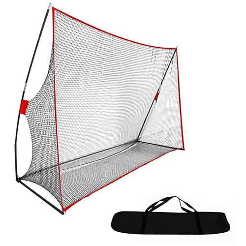 Qdreclod Heavy Duty Golf Net for Backyard, 10 X 7ft Portable Golf Hitting Net Large Golf Practice Net with Carry Bag for Driving Indoor Outdoor
