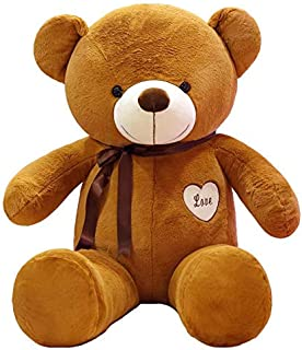 Happytoys 100cm Giant Teddy Bear Giant Plush Stuffed Toys Doll Lovers Valentines Birthday Gift ,brown