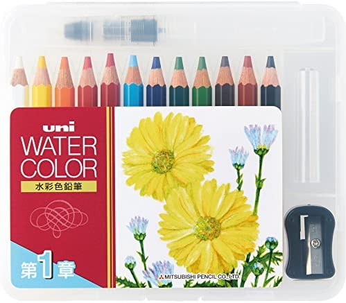 Uni Mitsubishi Pencil Water color compact color 12 Chapter 1 UWCNCS12C1 japan import product image