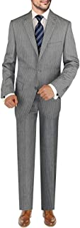 DTI BB Signature Italian Men's Wool Suit Set 3 Piece Jacket Pant Extra Trousers
