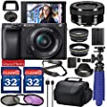 Sony Alpha a6400 Digital Camera with 16-50mm Lens (Black ILCE-6400L/B) Bundle with Accessory Package Including 64GB Memory, Spider Vlog Tripod & More (20 Pieces) by Sony Intl.
