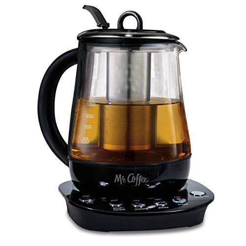 Mr. Coffee 1.2 L Hot Tea Maker and Kettle with Precise Steeping Technology Black, HTK100 (Black)