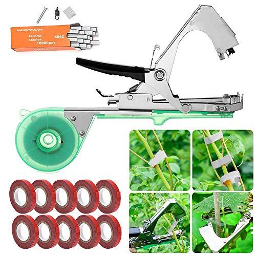 libelyef Bindezange Für Pflanzen, Hochleistungs Handbindemaschine Verpackung Gemüsestiel Umreifung Traubengurke Binden Zweig Maschine Für Weinbau Tomaten Gurken Obst Gemüse