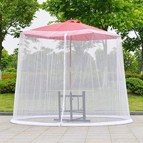 DSHUJC Cubierta de Mosquitos de jardín, Pantalla de Paraguas de Patio Eustoma/mosquiteras de Paraguas/mosquitera de Paraguas de Exterior/Cubierta de Dosel de Patio/Pantalla de par