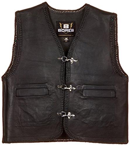 Bores Sunride 5 Leder Lederweste mit Seitlicher Weitenverstellung, Schwarz, Größe 6XL