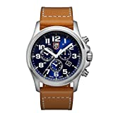 Luminox Atacama Field Chronograph Alarm Men's Quartz watch with Blue dial featuring LLT Luminox light Technology 45 millimeters Stainless Steel case and Brown Leather Strap XL.1944