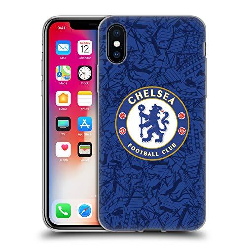 Head Case Designs Offizielle Chelsea Football Club Home 2019/20 Kit Soft Gel Handyhülle Hülle Huelle kompatibel mit Apple iPhone X/iPhone XS