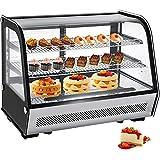 VBENLEM 5.65 cu.ft. Commercial Countertop Refrigerator Silver 160L...