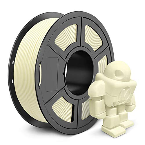 PLA Filament 1.75 mm 3D Printer Filament, 1kg Spool 3D Printing Filament, Dimensional Accuracy +/- 0.02 mm for 3D Printer and 3D Pen (Ivory White)