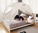 BESTEN Floorless Indoor Privacy Tent on Bed with Color Poles for Cozy Sleep in Drafty...