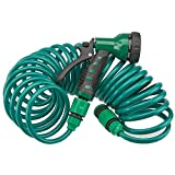Garden Gear 30 Metre Coil 100ft Retractable Garden Hose Pipe With Spray Gun