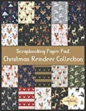 Scrapbook Paper Pad: Christmas Reindeer Collection: 20 Unique Design Background Crafting Sheets (Crafty Harvest Background Papers)