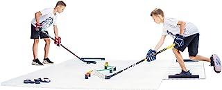 Hockey Revolution 18-pack Dryland Flooring Tiles - Slick Interlocking Training Surface for Stickhandling, Shooting, Passin...
