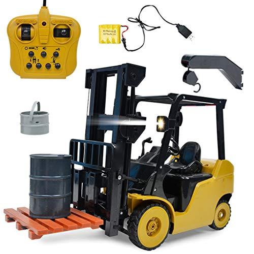 Luccase 1: 8 2,4 GHz Rc Gabelstapler Modell 60 x 14,5 x 29 cm 8 Kanal Fernbedienung Baufahrzeug Ferngesteuerte Gabelstapler Spielzeug Geschenk für Kinder, Gelb