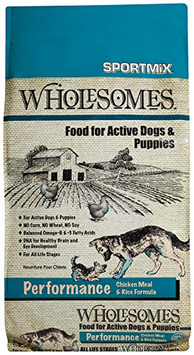 Wholesomes Performance Chicken Meal & Rice Dry Dog and Puppy Food ,30 lbs.
