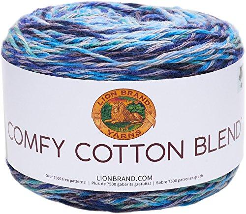 Lion Brand Yarn Comfy Cotton Blend Yarn, Ocean Breeze