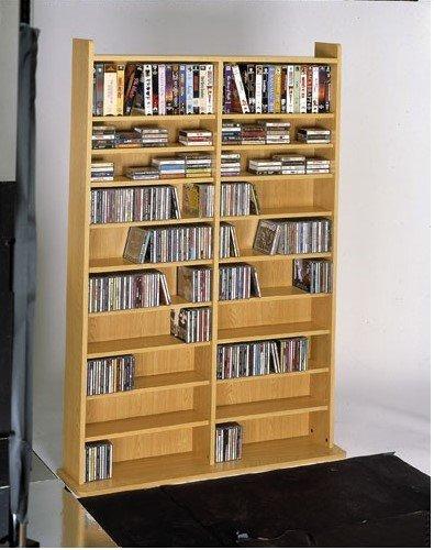 LDE LESLIE DAME CD-1000 CD DVD Media Storage Shelving (Oak)
