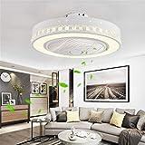 JINWELL Fan Plafoniera Creativa moderna Plafoniera LED Dimmerabile Ventilatore a...