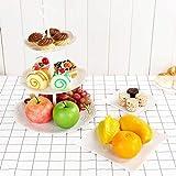 DIFIER - Expositor para tartas, caramelos, soporte para cupcakes, 3 pisos planos de servir, cupcake,...