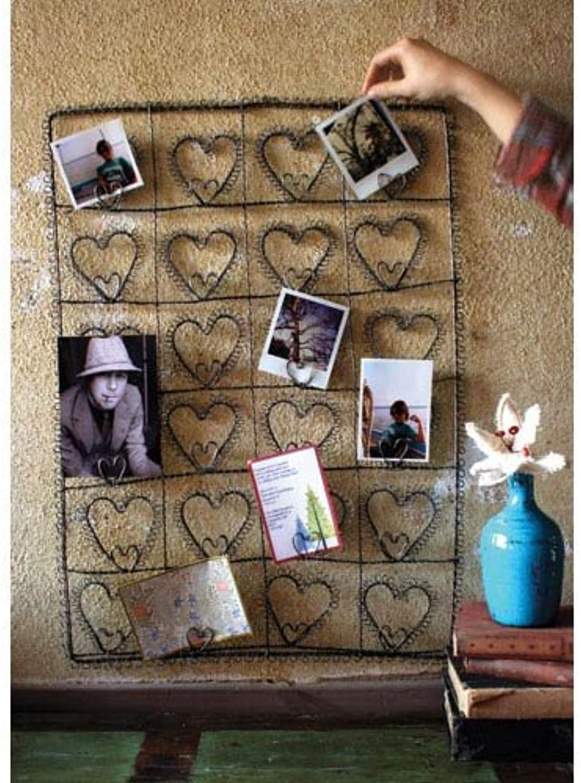 Kalalou NNL1010 Wire Twenty-Four Heart Photo Card Holder