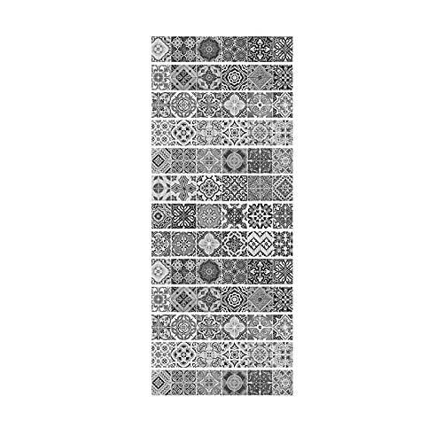 HQX Trece Piezas de Pegatinas de baldosas de cerámica Retro en Blanco y Negro Pegatinas de Escalera Pegatinas de Paso Pegatinas de Pared Material PVC