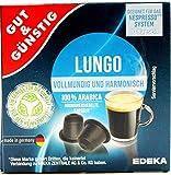Gut und Günstig Lungo Crema 100% Arabica Aromaversiegelte Kapsel, 10er Pack (10 x 52g) Geeignet für das Nespresso System