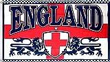 normani XXL Flagge Fahne genäht 150 x 250 cm Deutschland Brasilien USA Italien Spanien Portugal usw. Farbe England mit Wappen