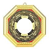 Oumefar Chino FengShui Dent Convex Bagua Espejo Madera Feng Shui Convex Concave Amuleto Espejo mágico Protección para energía Decoraciones para el hogar(13,5 cm Convexo)