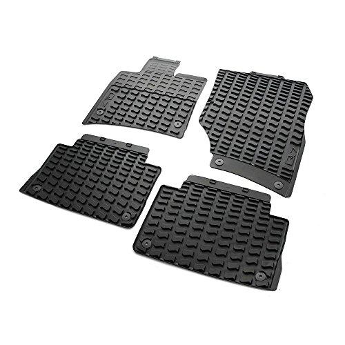Gummi Fußmatten Original Audi Q7 (Typ 4L, 2007-2015) Komplettsatz Gummimatten Allwettermatten 4-teilig v+h schwarz mit Schriftzug