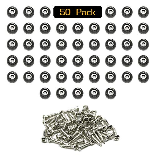 50 Small Round Rubber Feet with Screws - Cutting Boards Feet