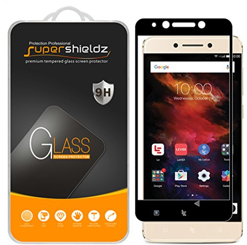 (2 Pack) Supershieldz Designed for LeEco Le Pro3 (Le Pro 3) Tempered Glass Screen Protector, (Full Screen Coverage) Anti Scratch, Bubble Free (Black)