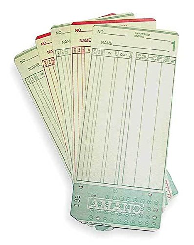 Amano 99000 Mjr-7000 Time Card 0-99 Employee Cards44; Pack of 1000