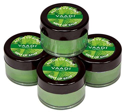 Vaadi Herbals Value Lip Balm, Mint, 4 x 10g
