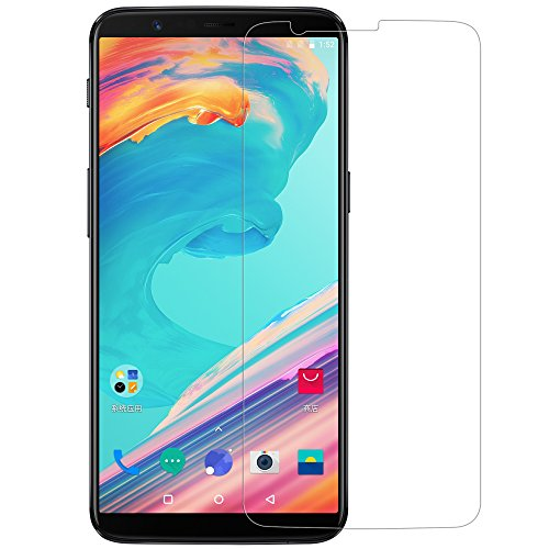 Oneplus 5T Screen Protector, Nillkin [H+ Pro] Tempered Glass 0.2mm 2.5D Round Edges Anti-Glare High Clarity 9H Screen Hardness Anti-Fingerprints Screen Protector for Oneplus 5t
