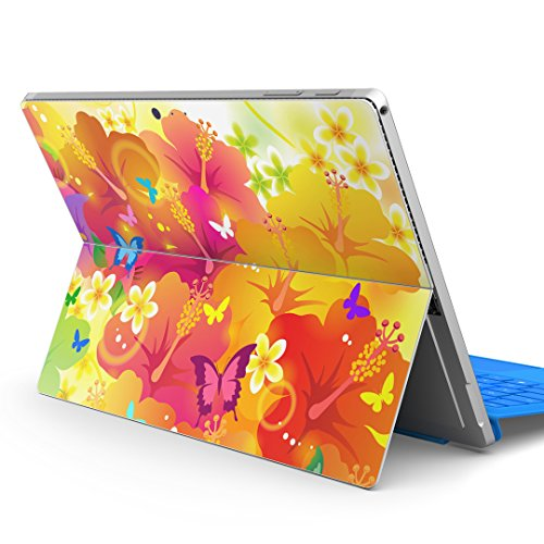 igsticker Ultra Thin Premium Protective Back Stickers Skins Universal Tablet Decal Cover for Microsoft Surface Pro 4/ Pro 2017/ Pro 6(2018 Released) 000914 Butterfly Flower