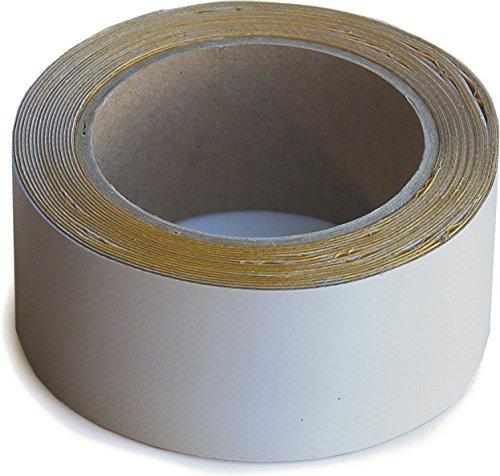 Wupsi PVC-Planen-Reparaturband - Klebeband zur Reparatur von Löchern & Rissen an LKW-Plane, Anhängerabdeckung, Markise & Zelt - grau 5 cm X 5 m