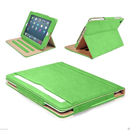 """S-Tech Apple iPad Air 3rd Generation 10.5"""" Inch 2019 Model Soft Leather Wallet Magnetic Smart Cover with Sleep/Wake Feature Flip Folio (Green)"""