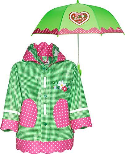 Playshoes baby-meisjes regenjas Regen-Mantel & Schirm Landhaus